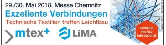 Meet us at MTex+ and Lima in Chemnitz (Germany) : May 29 & 30, 2018 - Stand M65